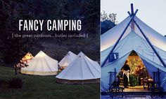 Moomah shows parents how to do family vacations right... with kids tipis, family activity packages and plenty of luxury for Mom and Dad! http://moomah.com/themagazine/fancy-camping