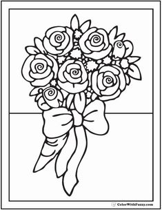 29 Best Vase With Flowers Coloring Page Images In 2019