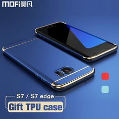 For Samsung S7 edge case for Samsung S7 case MOFi back cover hard coque for galaxy s7 edge cover s7 capa funda luxury gold blue