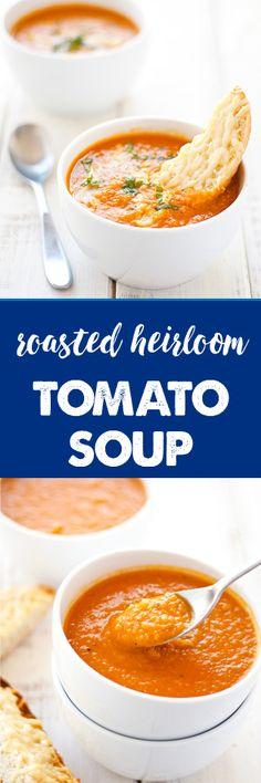 roasted heirloom tomato soup | ahappyfooddance.com