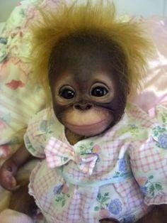 Reborn orangutan by judy dickinson