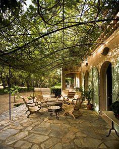 Exterior design backyard covered patios beautiful 42 new ideas Outdoor Rooms, Outdoor Gardens, Outdoor Living, Outdoor Decor, Pergola Diy, Pergola Ideas, Porch Ideas, Pergola Roof, Metal Pergola