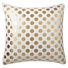 gold dottie throw pillow for new master bed