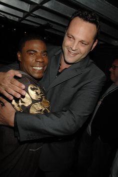 Pin for Later: Revivez les meilleurs moments des Best Guys Choice Awards !  Vince Vaughn et Tracy Morgan ont partagé un moment de complicité en 2007.