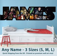 Childrens Name Wall Stickers Art Personalised Star Wars for Boys/Girls Bedroom | Home, Furniture & DIY, Home Decor, Wall Decals & Stickers | eBay!