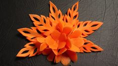 Simple Carrot Flower Lamduan - Beginners Lesson 9 By Mutita The Art Of F...
