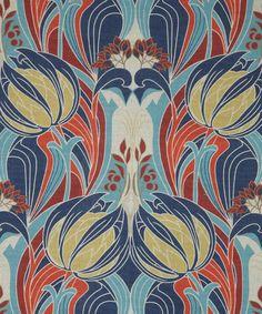 'Kate Nouveau' Print Linen by Liberty