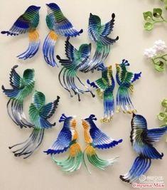 Здравствуйте рукодельницы. Не могу не показать такую красоту. Только, что наткнулась в инете. Может быть кого нибудь вдохновит на подвиг. Я точно соберусь такую красоту творить. Crochet Butterfly, Crochet Birds, Form Crochet, Crochet Art, Crochet Animals, Crochet Flowers, Crochet Toys, Crochet Applique Patterns Free, Irish Crochet Patterns