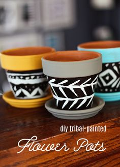 DIY Tribal-Painted Flower Pots — Laurie Cosgrove