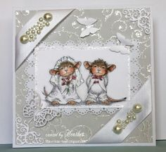 A Sparkling Wedding ! by Rica - Cards and Paper Crafts at Splitcoaststampers Acetate Cards, House Mouse Stamps, Mouse Crafts, Handmade Card Making, Beautiful Handmade Cards, Sympathy Cards, Anniversary Cards, Greeting Cards Handmade, Homemade Cards