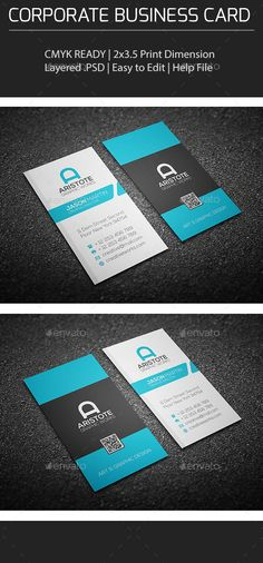 Corporate Business Card Template | Download: http://graphicriver.net/item/corporate-business-card/10311229?ref=ksioks
