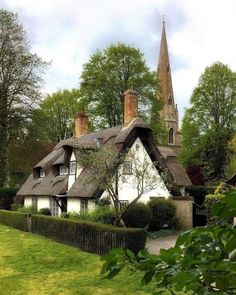 Likes, 53 Comments - Country Living UK Old Cottage, Cottage Homes, Cottage Style, Country Living Uk, Beautiful Homes, Beautiful Places, Thatched Roof, English House, Cabins And Cottages