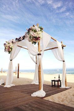 Outdoor Wedding Ceremonies Stunning Beach Wedding Ceremony Ideas - MODwedding - White or colorful flowers are both beautiful details to have at your beach wedding. Check out these beach wedding ceremony ideas from Elena Damy inside! Wedding Ceremony Ideas, Beach Ceremony, Beach Wedding Decorations, Wedding Centerpieces, Wedding Ceremonies, Ceremony Backdrop, Ceremony Decorations, Decor Wedding, Backdrop Photobooth