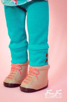 """Free cuffed leggins pattern for 18"""" doll"""