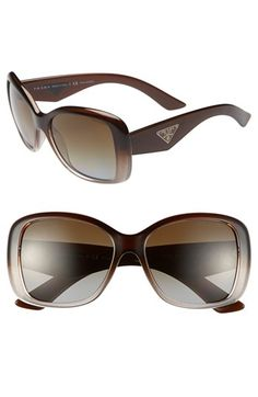 Women's Prada 'Oversized Glam' 57mm Polarized Sunglasses