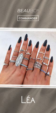 Moment, Silver Rings, Makeup, Beauty, Jewelry, Jewelry Collection, Trends, Make Up, Jewlery