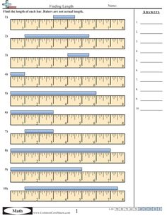 Measurements On A Ruler Worksheets Free Printable Worksheets, Worksheets For Kids, Math Worksheets, Printables, Decimal, Measurement Worksheets, Measurement Kindergarten, Preschool Assessment, Ruler Measurements