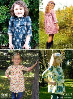 Tunique robe de filles boho pattern tailles par AmelieClothing