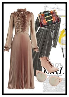 """Dress it up!"" by peeweevaaz ❤ liked on Polyvore featuring LUISA BECCARIA, Opening Ceremony, Fendi, Burberry, Murphy, outfit, dress, polyvoreeditorial, partystyle and polyvorefashion"