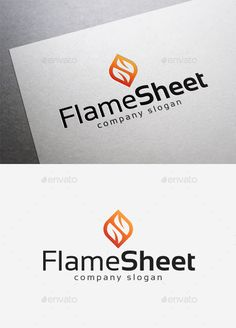 Flame Sheet  Logo Design Template Vector #logotype Download it here: http://graphicriver.net/item/flame-sheet-logo/10042020?s_rank=1747?ref=nesto