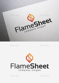 Flame Sheet  Logo Design Template Vector #logotype Download it here: http://graphicriver.net/item/flame-sheet-logo/10042020?s_rank=1747?ref=nesto