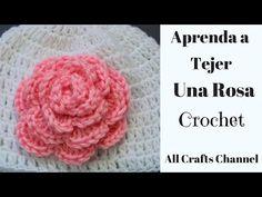 Como Tejer Flor en Crochet Con Tres Capas de Petalos - YouTube