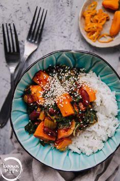 Feta, Food Porn, Vegan Recipes, Vegan Food, Food And Drink, Vegetarian, Sweet Potato, Dishes, Cooking