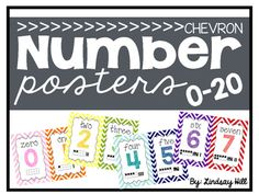 Chevron Number Posters 0-20                                                                                                                                                     More