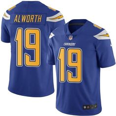 Nike Chargers #19 Lance Alworth Electric Blue Men's Stitched NFL Limited Rush Jersey