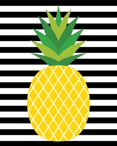 """These cute pineapple printables will make a stylish addition to your home decor! Bonus pineapple gift tags are perfect for gift-giving! cute home decorations """"Fine-Apple"""" Pineapple Printables + Gift Tags - Happiness is Homemade Pineapple Gifts, Cute Pineapple, Pineapple Pictures, Printable Art, Printables, Pineapple Wallpaper, Adult Party Themes, Tropical Party, Teacher Appreciation Gifts"""