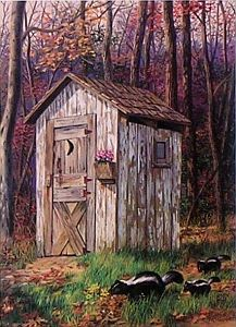 """Kindred Spirits"" - Country Outhouse"
