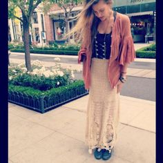 Mi Amore Maxi Skirt style pic on Free People
