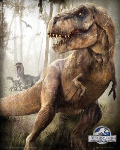 Jurassic World - T Rex - Official Mini Poster. Official Merchandise. FREE SHIPPING