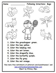 Worksheets Free Worksheets.com this free worksheet allows students to follow directions with practice reading color words and