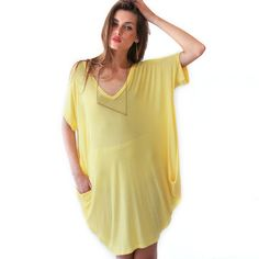 Short Sleeve Tunic Yellow, $55, now featured on Fab.