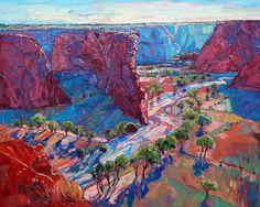 Canyon de Chelly arizona shadows oil painting by Erin Hanson