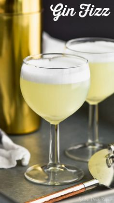 This Gin Fizz recipe is a classic for a reason! With just a few simple ingredients you can have this amazing and delicious cocktail! A show stopper for parties for sure!