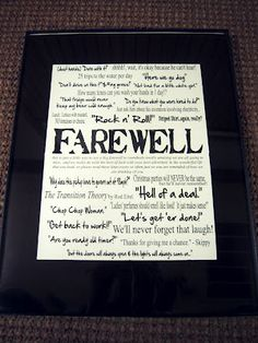 personalized farewell gift