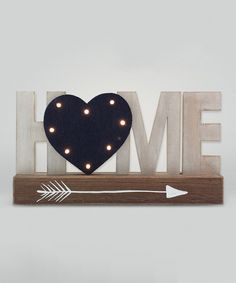 'Home' LED Block Sign