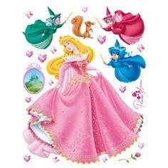 stickers muraux de la princesse aurore et ses marraines les fes de la belle au bois
