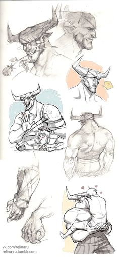 Iron Bull sketchdump by Relina-ru