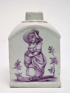 Volkstedt Porcelain Tea-caddy - Germany, c.1780