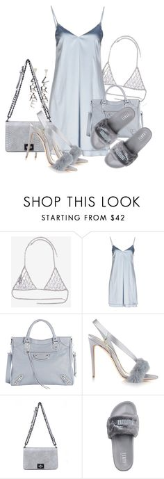 """Untitled #3593"" by xirix ❤ liked on Polyvore featuring Vanessa Mooney, Carla G., Balenciaga, Olgana, Puma and Versace"