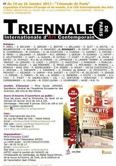 Triennale internationale de Paris 2013