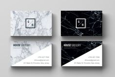 Business Card Template l Business Card Design, marble, modern, business, custom, minimalist, printable, easy to edit! INSTANT DOWNLOAD de la boutique CAMILLECHNL sur Etsy