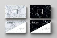 Business Card Template l Business Card Design, marble, modern, business, custom, minimalist, printable, easy to edit! INSTANT DOWNLOAD de la boutique CAMILLECHNL sur Etsy
