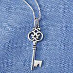Sterling Silver Vintage Key ring