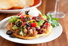 Mom's Navajo Tacos and Indian Fry Bread - these things should be famous! Be sure to make extra fry bread to eat with honey butter for dessert!