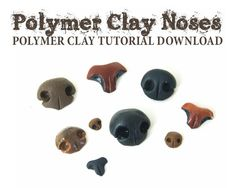 Polymer Clay Noses Kit and Tutorial Polymer Clay Ornaments, Polymer Clay Canes, Handmade Polymer Clay, Polymer Clay Earrings, Needle Felting Tutorials, Clay Tutorials, Super Glue, Needle Felted Animals, Felt Animals
