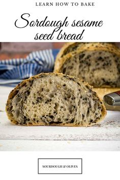In this seeded bread recipe, you will learn how to bake sourdough sesame seed bread. The recipe contains both black and white sesame seeds for maximum taste and a pleasent visual approach. Seed Bread, Seeded, Sourdough Bread, Bread Recipes, Banana Bread, Muffin, Tasty, Baking, Breakfast